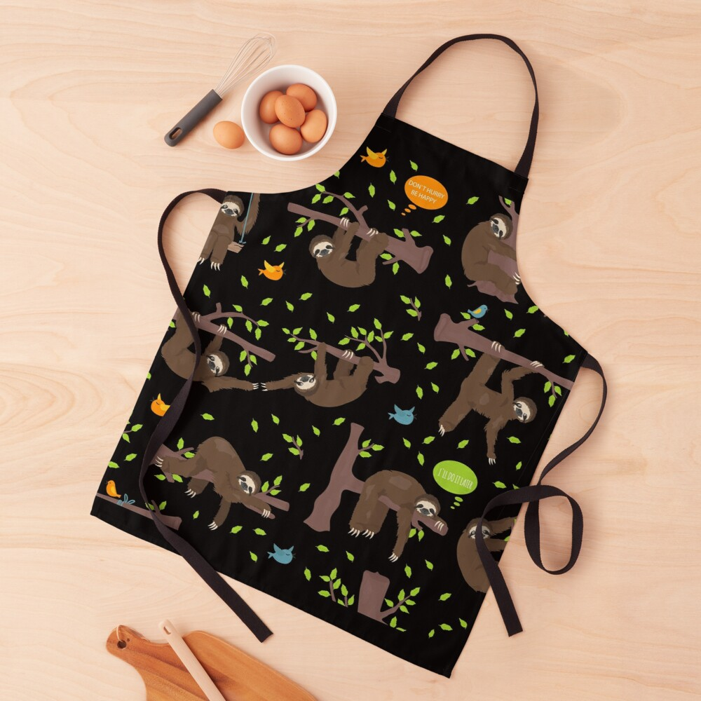 Sloth Do It Later Apron