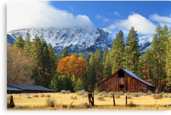 Autumn Barn At Thompson Peak by James Eddy