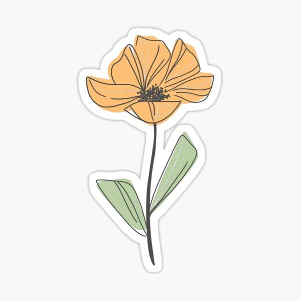 Poppy - Yellow Sticker