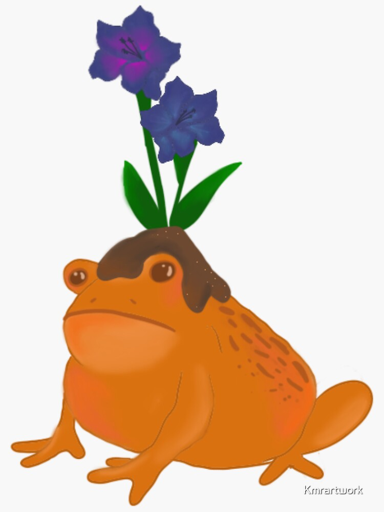 Naughty garden toad by Kmrartwork