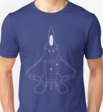 Lockheed Martin F-22 Raptor Blueprint T-Shirt