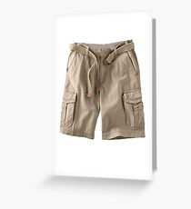 cargo shorts Greeting Card