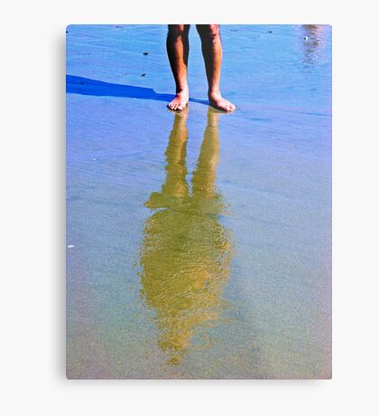 Reflection In The Sand 2 Metal Print