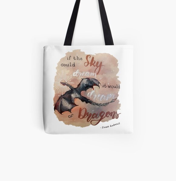 If the sky could dream, it would dream of dragons. by Ilona Andrews All Over Print Tote Bag