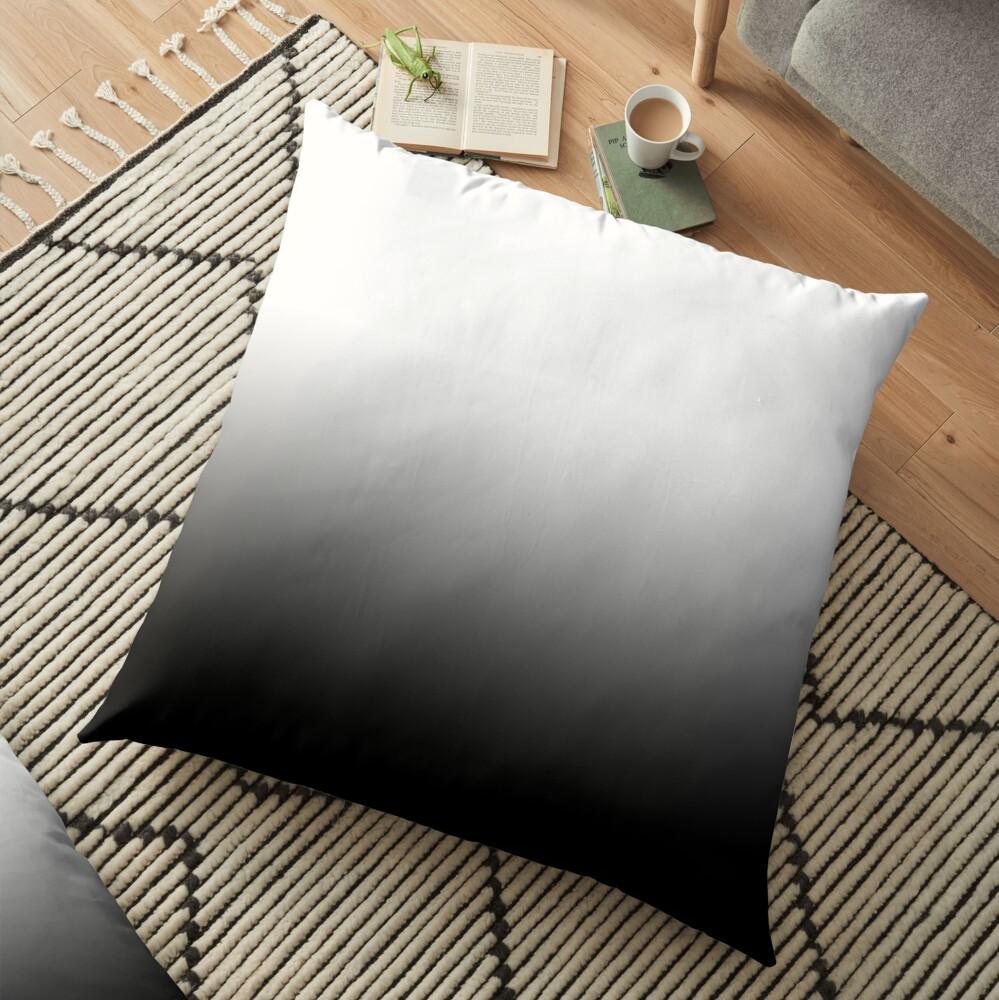 Black Ombre Gradient Floor Pillow