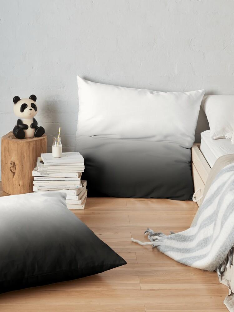 Alternate view of Black Ombre Gradient Floor Pillow