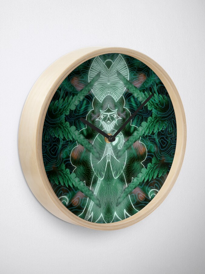Alternate view of The White Witch Clock