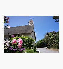 thatched roof Photographic Print
