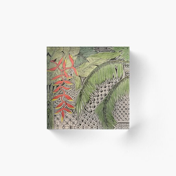 Bali Inspiration Acrylic Block