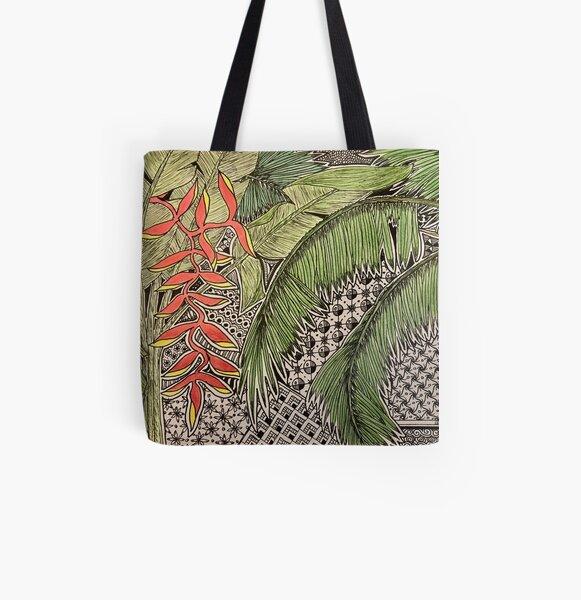 Bali Inspiration All Over Print Tote Bag