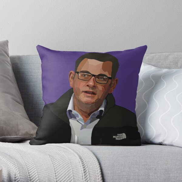 The Iconic North Face Jacket (and Dan Andrews) Throw Pillow