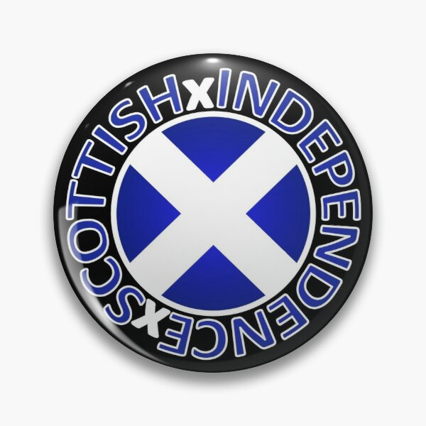 Scottish Independence Saltire Badge Pin