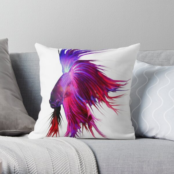 Betta Splendens ;Siamese fighting Fish. Throw Pillow