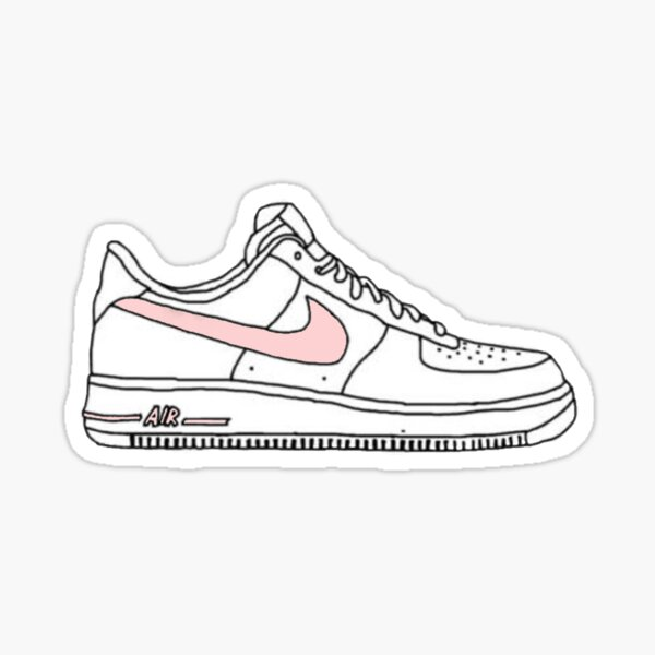 Light Pink Air Force 1 Vsco Sticker Sticker