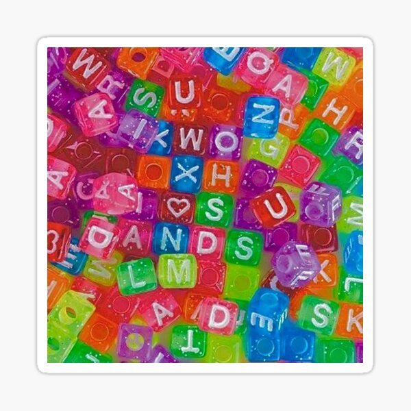 aesthetic alphabet beads Sticker