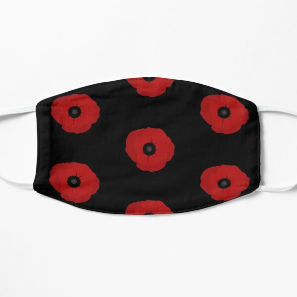 A Poppy for Remembrance Day Flat Mask