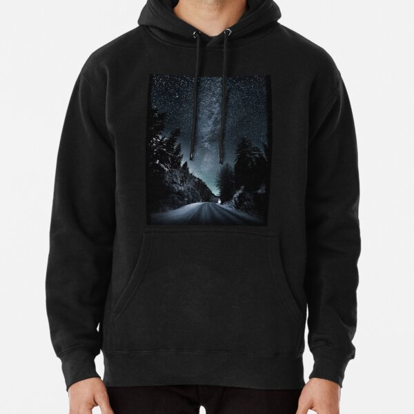 Night view on a Road Cool 2021 Pullover Hoodie