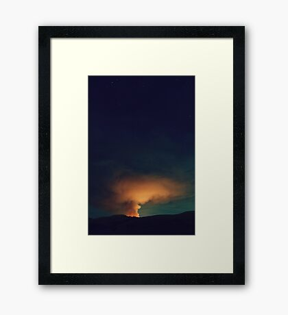 By Fire Light v2 Framed Print