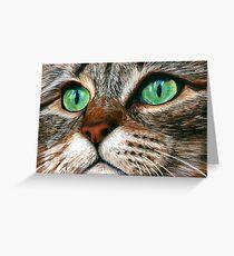 Tabby Cat Pastel Greeting Card
