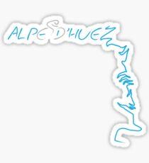 Cycling Alpe D'Huez Sticker