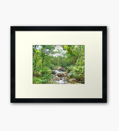 September Arrives At The Unami Creek Framed Print