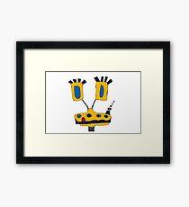 Yellow Giraffe Framed Print