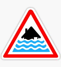 Severe Flood Warning Sticker