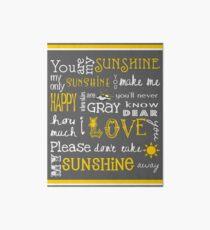 Lámina de exposición Eres mi cartel de sol