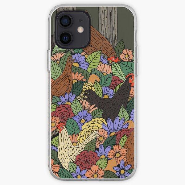 Whimsical Chicken Garden iPhone Soft Case