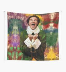 Elf - SANTA'S COMING! Wall Tapestry