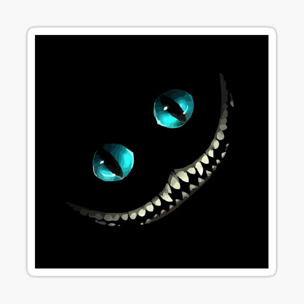 Cheshire Cat Smile in 250 spot colours. Sticker