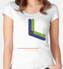 St. Andrew 1966 station Women's Fitted Scoop T-Shirt