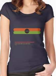 Sherbourne 1966 station Women's Fitted Scoop T-Shirt