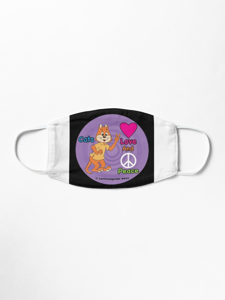 Alternate view of Cats Love And Peace Mask