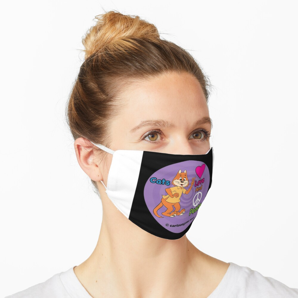 Cats Love And Peace Mask