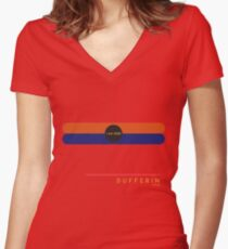 Dufferin 1966 station Women's Fitted V-Neck T-Shirt