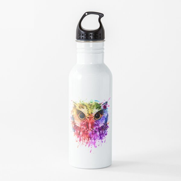 Owl Lover Gifts, Owl Colorful, Cute Owl  Water Bottle