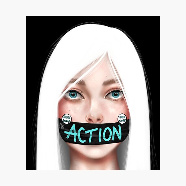 Action Speaks Louder Than Words Photographic Print