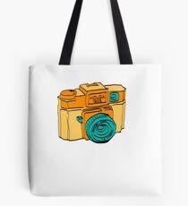 Colorful Holga Camera Sketch Tote Bag