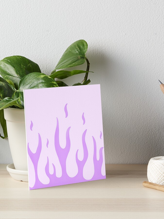 Purple Flames Abstract Design Art Picture Poster Photo Print 5ABSTCT