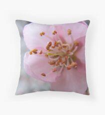 Durazno en flor Throw Pillow