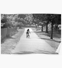 Bicycling girl Poster