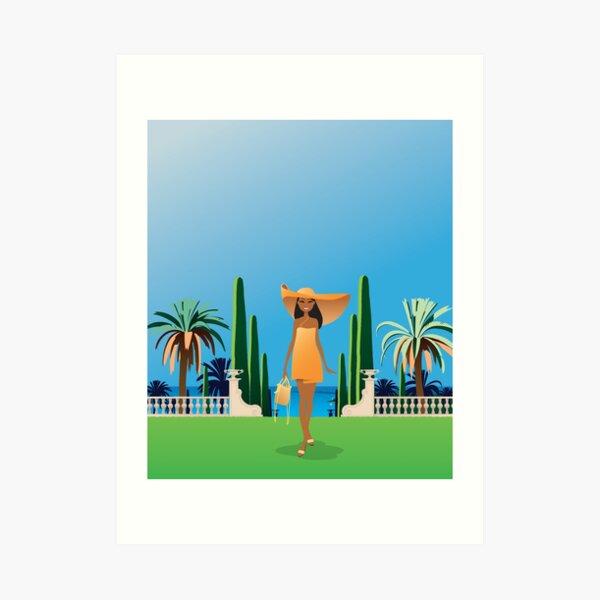 French Riviera, promenade au bord de mer Impression artistique