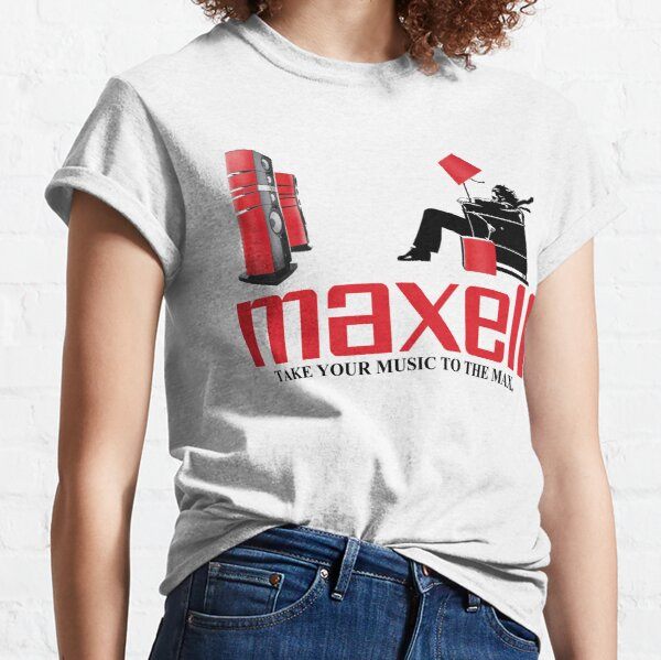 Retro 1980s Maxell Cassette Tape Blown Away Guy Classic T-Shirt