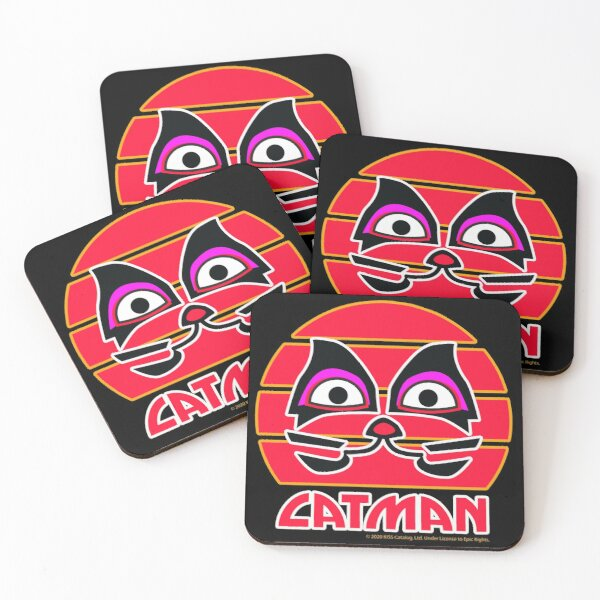 Catman KISS Fanart  Coasters (Set of 4)