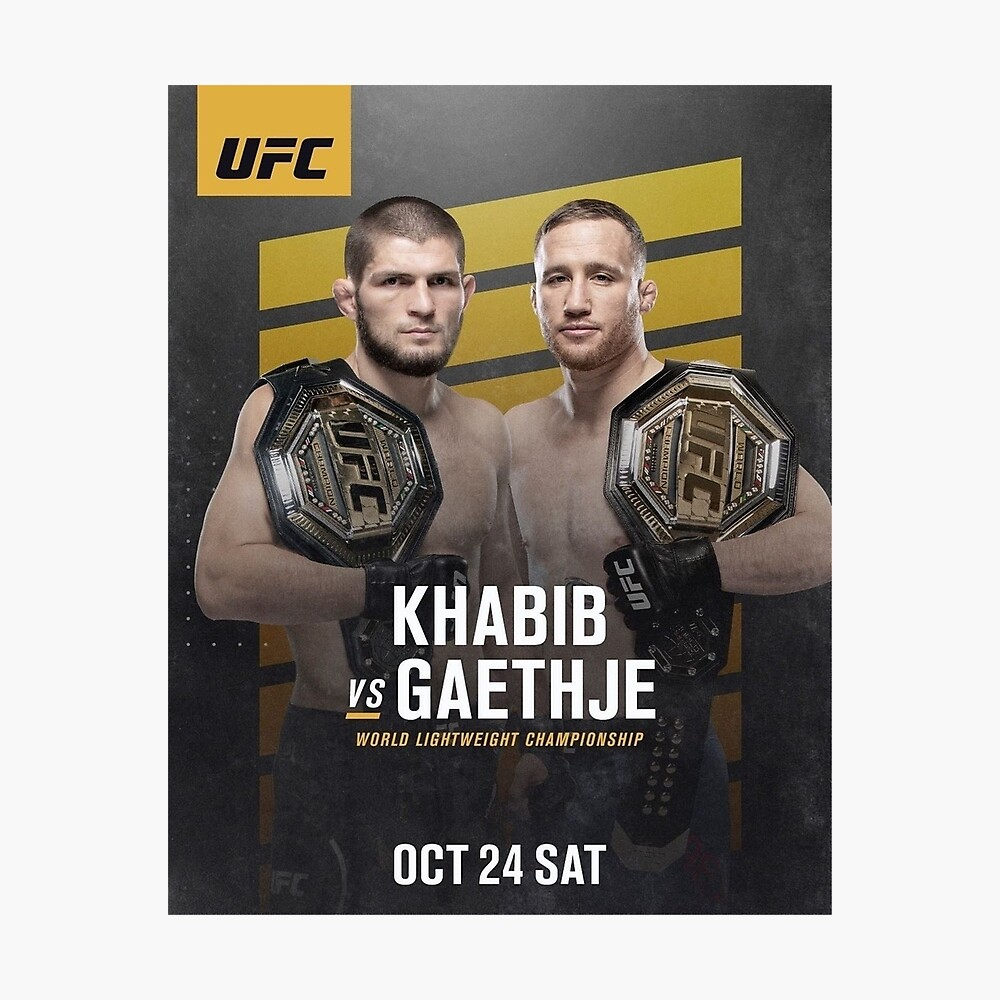 "UFC 254 Khabib vs Gaethje Poster 24x36/""//60x90cm Custom Decor Silk Print"