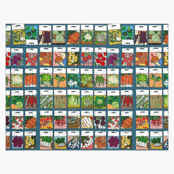 Vegetable seeds pattern Jigsaw Puzzle