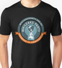 WikiLeaks Party - Courage is contagious T-Shirt