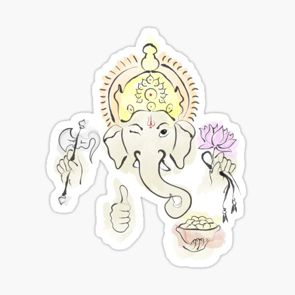 Ganesha - The Obstacle Remover Sticker