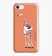 Belt Giraffe (Orange/iPhone 5) iPhone Case/Skin